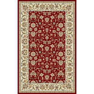 Silvera Red Ivory Area Rug By Charlton Home