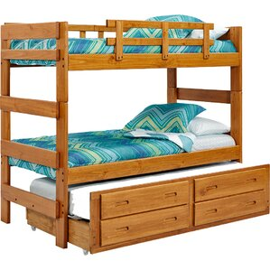 extra tall twin over twin bunk bed with trundle and storage