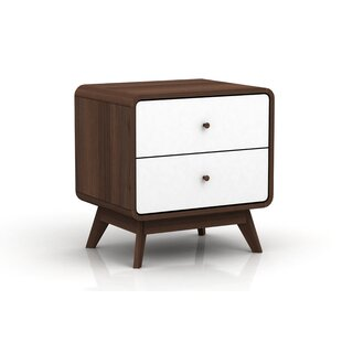 Braham 2 Drawer Nightstand by George Oliver Today Sale Only