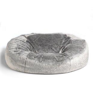 Cloud Giant Faux Fur 2-Seater Bean Bag Sofa by Rosdorf Park