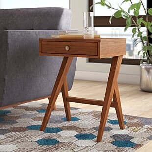 Best Review Karlov End Table By Mercury Row