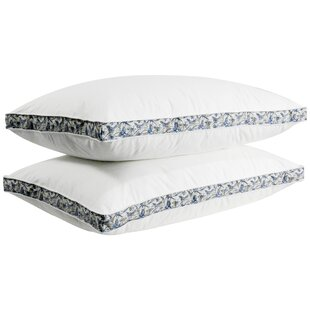 Huck Printed Gusset Medium Down and Feathers Pillow