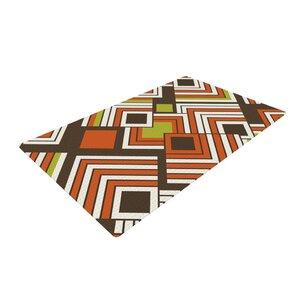 Jacqueline Milton Luca Coffee Brown/Orange Area Rug