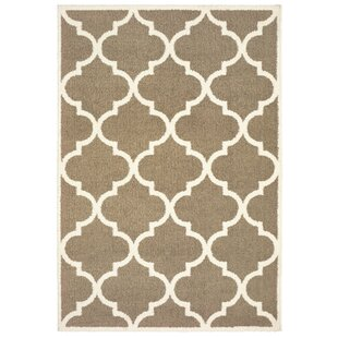 Priebe Lattice Taupe/Ivory Indoor/Outdoor Area Rug
