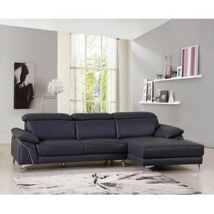 Orren Ellis Amatia Leather Sectional