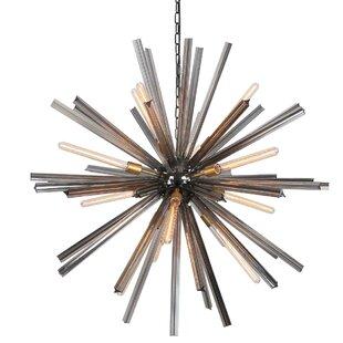 Viz Glass EOS 12-Light Sputnik Chandelier