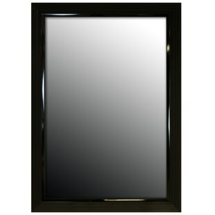 Second Look Mirrors Glossy Black Stepped Petite Wall Mirror