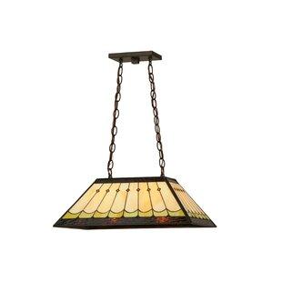 Meyda Tiffany Greenbriar Oak Scallop 2-Light Pendant
