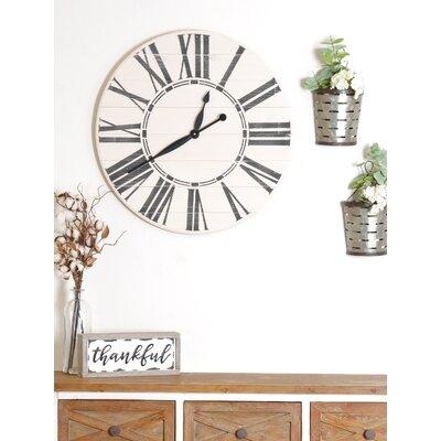Oversized Wood Wall Clocks You Ll Love In 2020 Wayfair