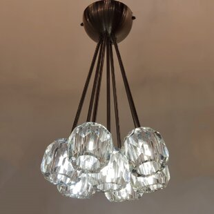 Watertown 7-Light Cluster Pendant by Everly Quinn