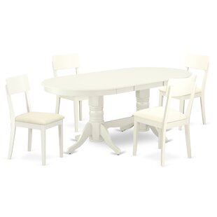 Gumbert 5 Piece Extendable Solid Wood Dining Set