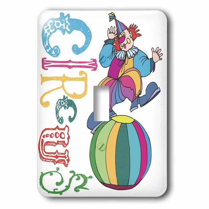 3drose Circus Clown 1 Gang Toggle Light Switch Wall Plate Wayfair
