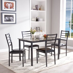 Mukai 5 Piece Dining Set by Winston Porter Today Sale Only