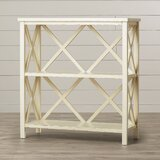 Sadie 35.6 H x 33.5 W Solid Wood Etagere Bookcase by Beachcrest Home