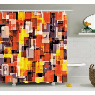 Abraham Modern Painting Single Shower Curtain by Ebern Designs Wonderful