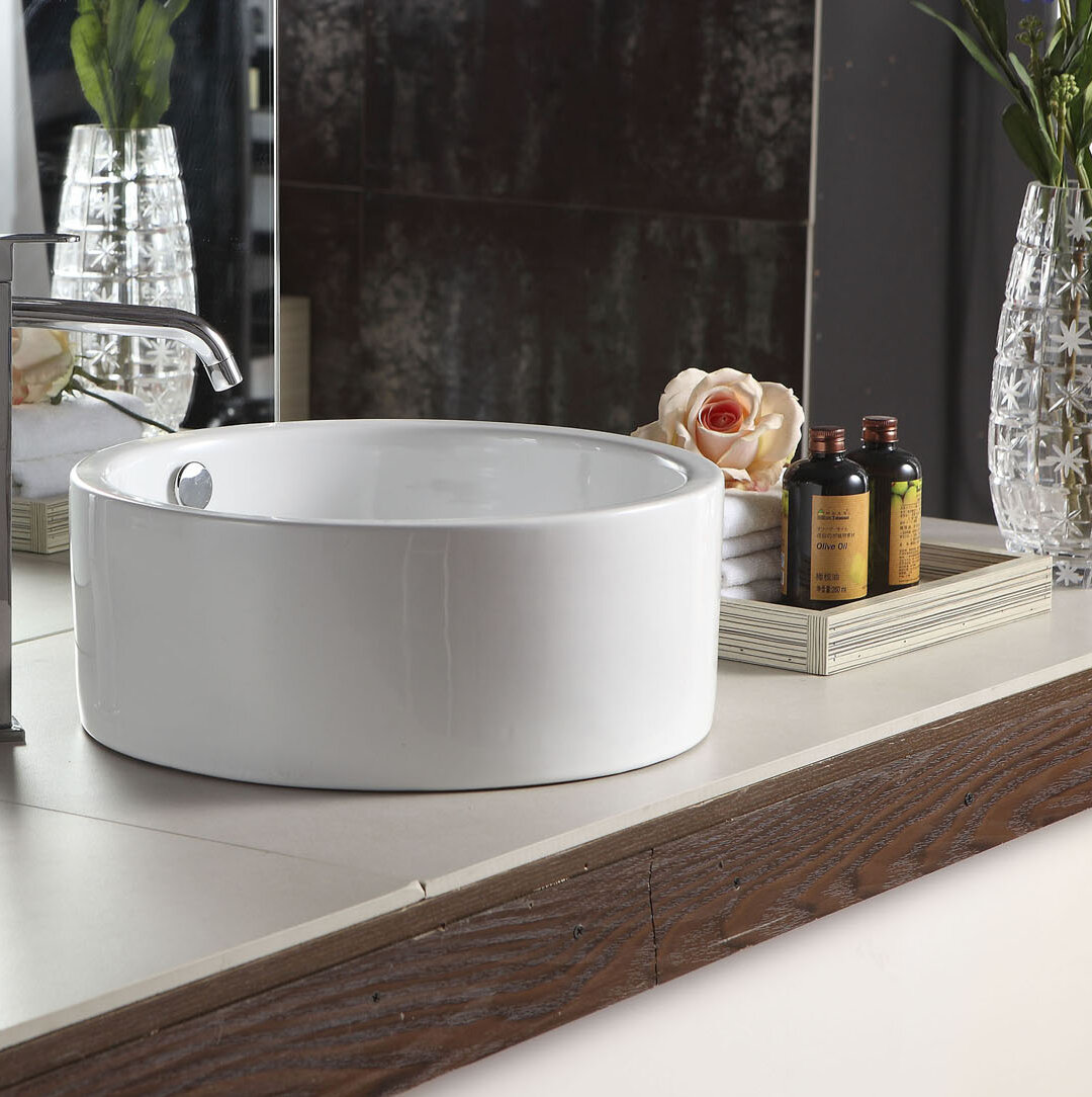 Barclay Sheridan Vitreous China Circular Vessel Bathroom Sink With Overflow Wayfair