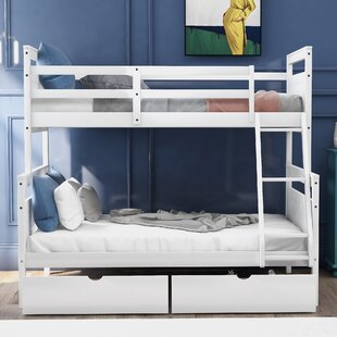 Mollifer Twin Over Full Bunk Bed with Drawers