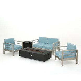 Berryville 5 Piece Aluminum Conversation Set with Cushions