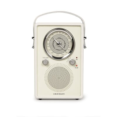 Mockingbird Radio Crosley Electronics Color: White Sand