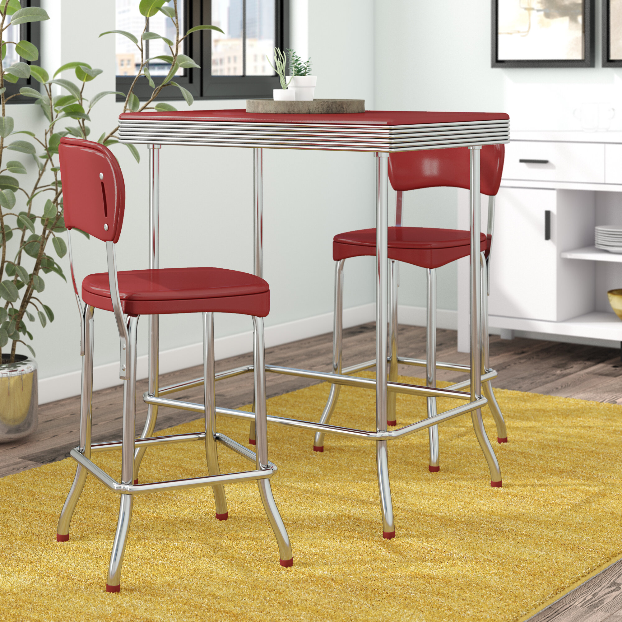 Retro Kitchen Table And Chairs Wayfair Ca