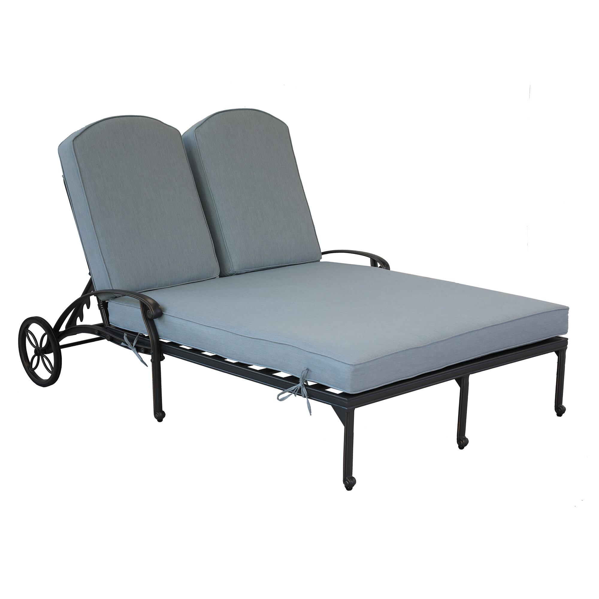 - Fleur De Lis Living Quintin Double Chaise Reclining Lounge With Cushion &  Reviews Wayfair