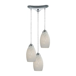 Knepp Etched Glass 3-Light Pendant By Latitude Run