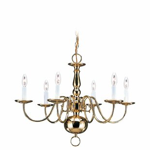 Darby Home Co Hodgins Traditional 6-Light Chandelier