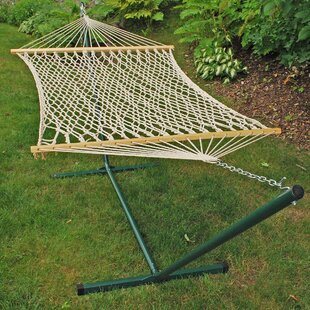 fernwood rope cotton hammock with stand hammocks   birch lane  rh   birchlane