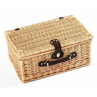 Buckingham Willow Picnic Hamper For Two People By Brambly Cottage