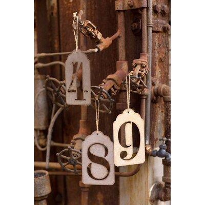 17 Stories 10 Piece Metal Stencil Number Hanging Figurine Ornament Set