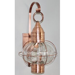 Savings 600 Series 1-Light Outdoor Wall Lantern By Brass Traditions