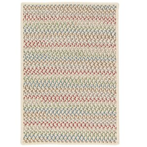 Arvie Hand-Woven Red/Green Area Rug