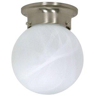 Ithomitis 1-Light Flush Mount in Brushed Nickel