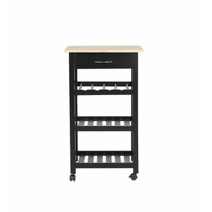 Titus Kitchen Cart Canora Grey