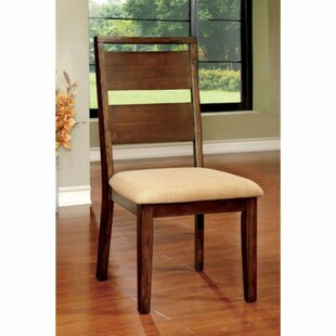 Tan Solid Wood Dining Chair (Set Of 2) by Loon Peak Purchase