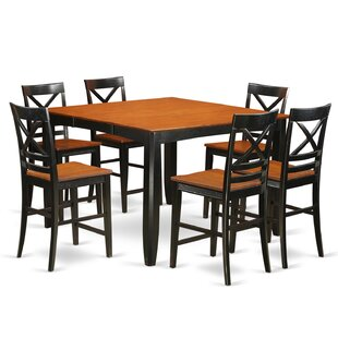 Tamarack 7 Piece Counter Height Pub Table Set Red Barrel Studio