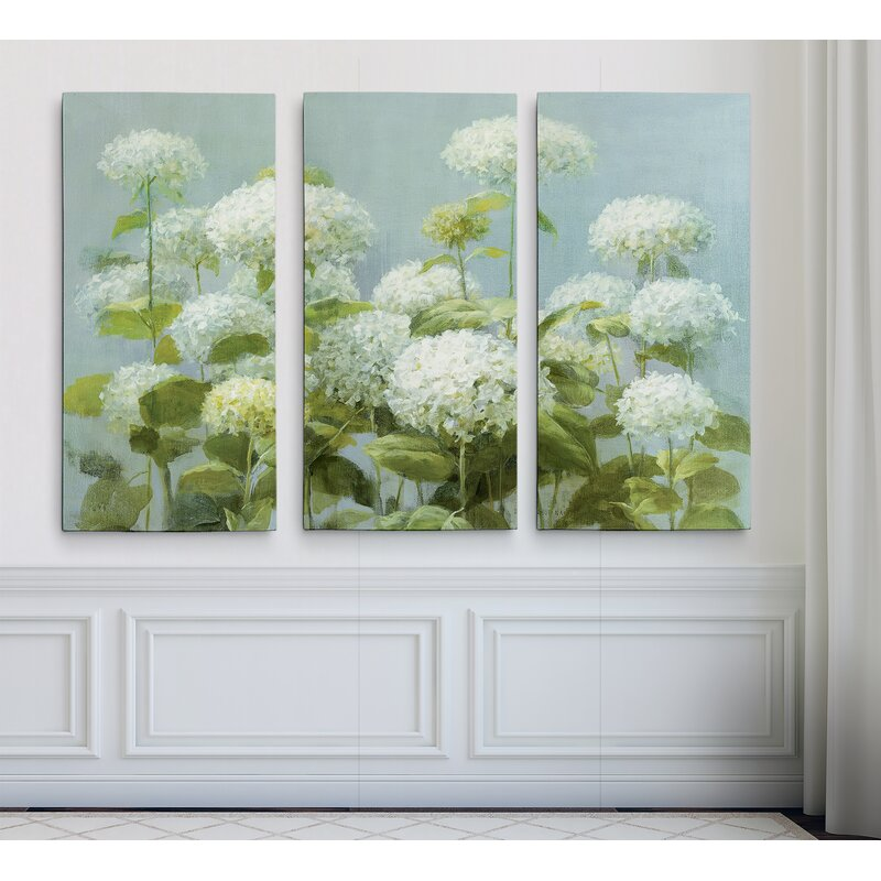 Garden Friends White IV Giclee Stretched Canvas Artwork 30 x 30 Global Gallery Mary Urban