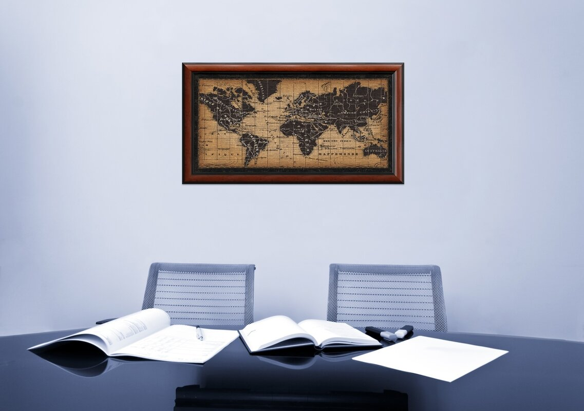 Darby home co old world map framed graphic art reviews wayfair old world map framed graphic art gumiabroncs Image collections