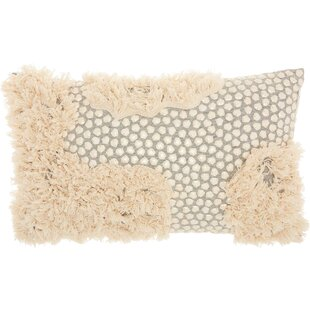 Sequins and Fringe 100% Cotton Lumbar Pillow