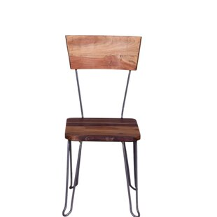 Menoher Wooden Dining Chair Millwood Pines