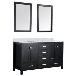 Inexpensive Tia 60 Double Bathroom Vanity Set with Mirror By Brayden Studio