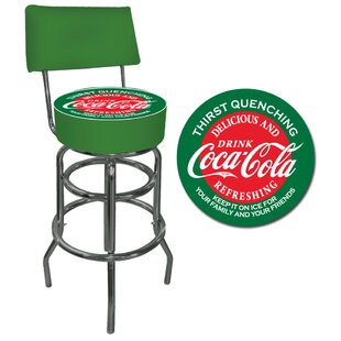 Coca Cola 31 Swivel Bar Stool by Trademark Global 2019 Sale