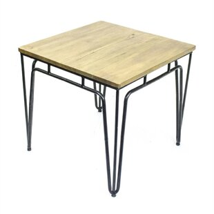 Cottrell Classic Metal Coffee Table with Wood Top