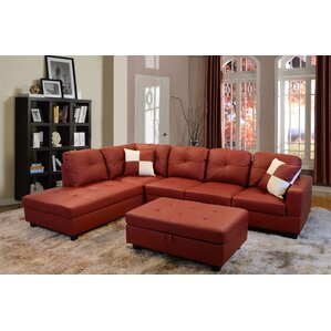 russ sectional - Red Couch Living Room Pictures