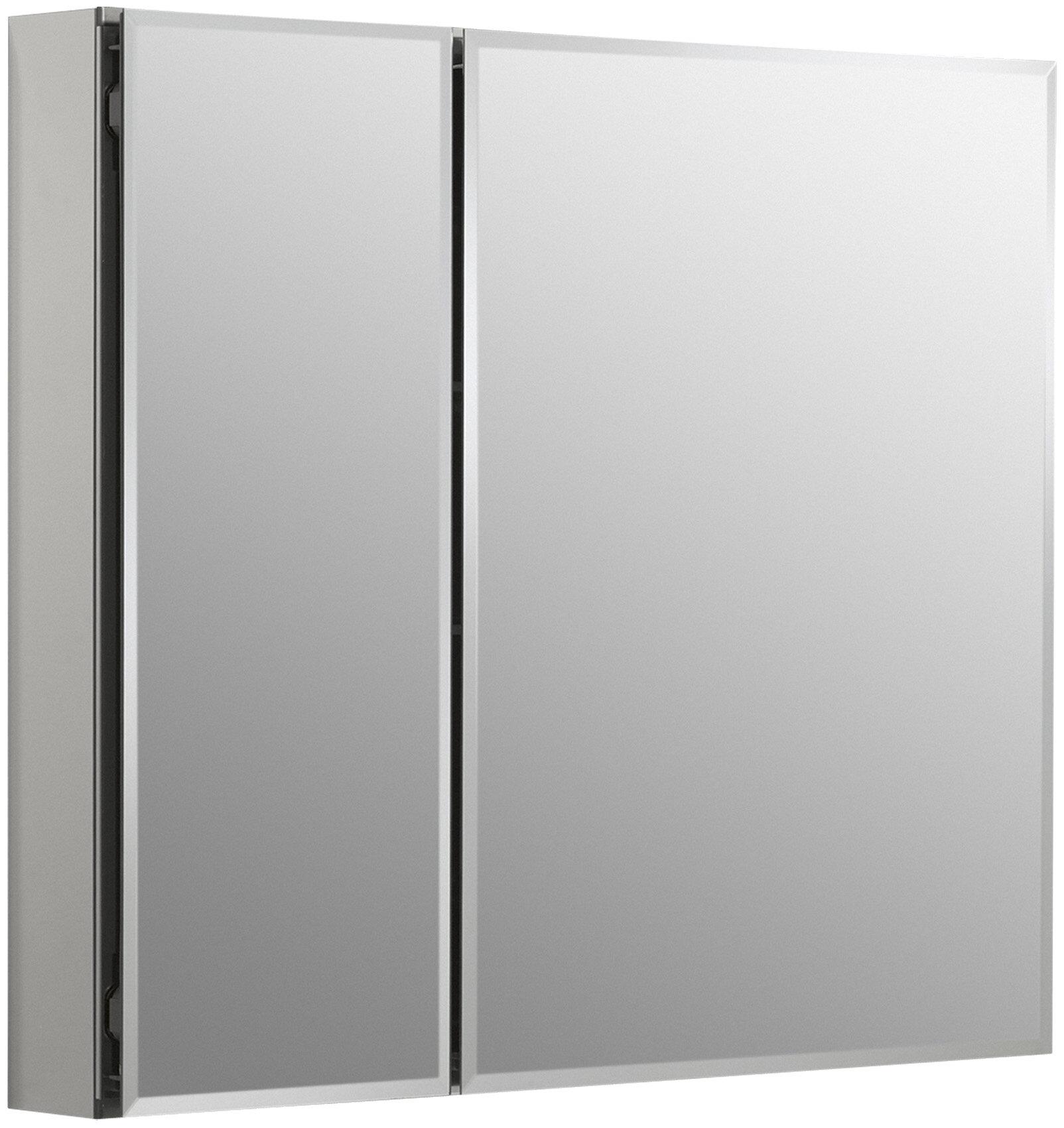 30 X 26 Aluminum Two Door Medicine Cabinet With Mirrored Doors Beveled Edges Reviews Allmodern