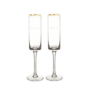 Personalized 2-Piece 8 oz. Glass Flute Set (Set of 2)