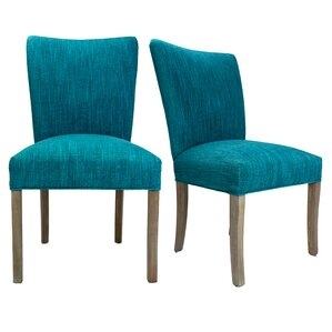 Julia Lucky Spring Seating Double Dow Upholstered Side Chair (Set of 2) by Sole Designs