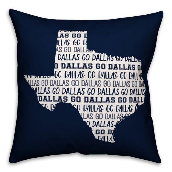 Ebern Designs Cortez Go Dallas Indoor Outdoor Throw Pillow Wayfair