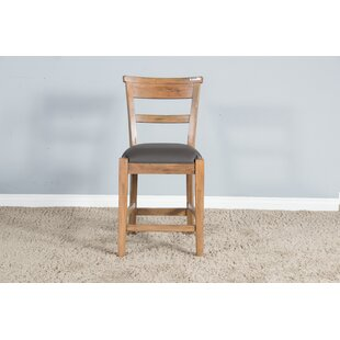 Taya Ladderback Cushion Seat 24 Bar Stool