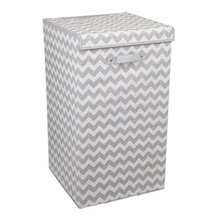 Ebern Designs Chevron Folding Laundry Hamper